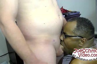 Big Rick feeding Joe his big uncut cock