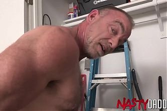 NASTYDADDY Hairy Hunky Daddy Trace OMalley Jerks Off Solo