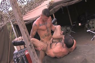 Ricky and Roman have sex at the army