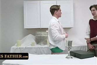 Disobedient Altar Boys Sneak Into The Ceremony Room